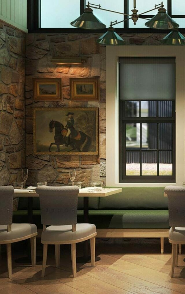 Interior dining room of Greystones