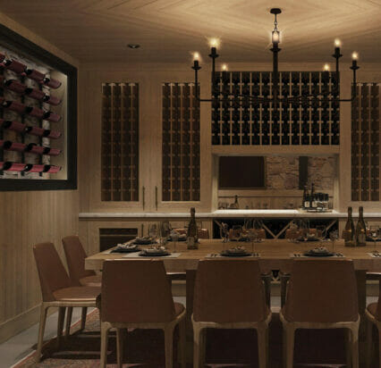 private dining room in wine cellar