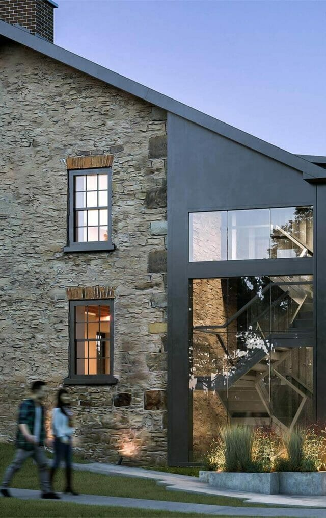 new and old collaboration of the rehabilitation of Greystones building