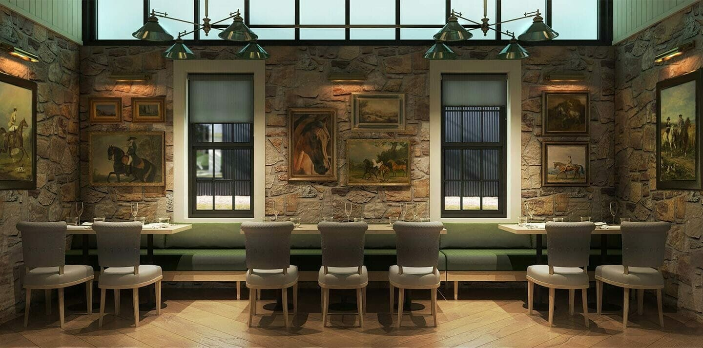 solarium rendering of dining room at Greystones' Restaurant