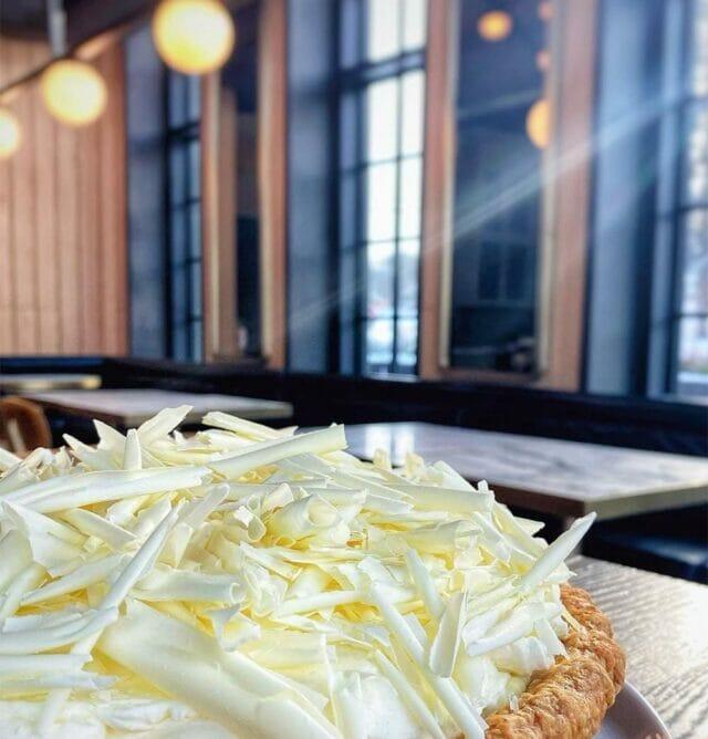 dessert pie on wooden table